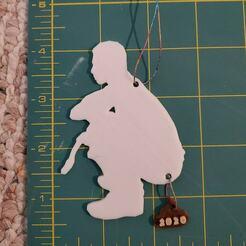 Man Measurements.jpg Download STL file 2020 Man Pooping Christmas Ornament • 3D printable object, HostagePotatoChips