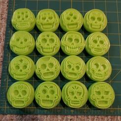 120938789_3419087174983150_6127624034341905352_o.jpg Download STL file 16 Candy Skulls Clay or Play-Doh Stamps • 3D printing template, HostagePotatoChips