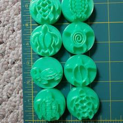 124995065_3453210398237494_1882297187124926104_o.jpg Download STL file Turtle Stamps for Clay or Play-Doh etc.. • 3D printer template, HostagePotatoChips