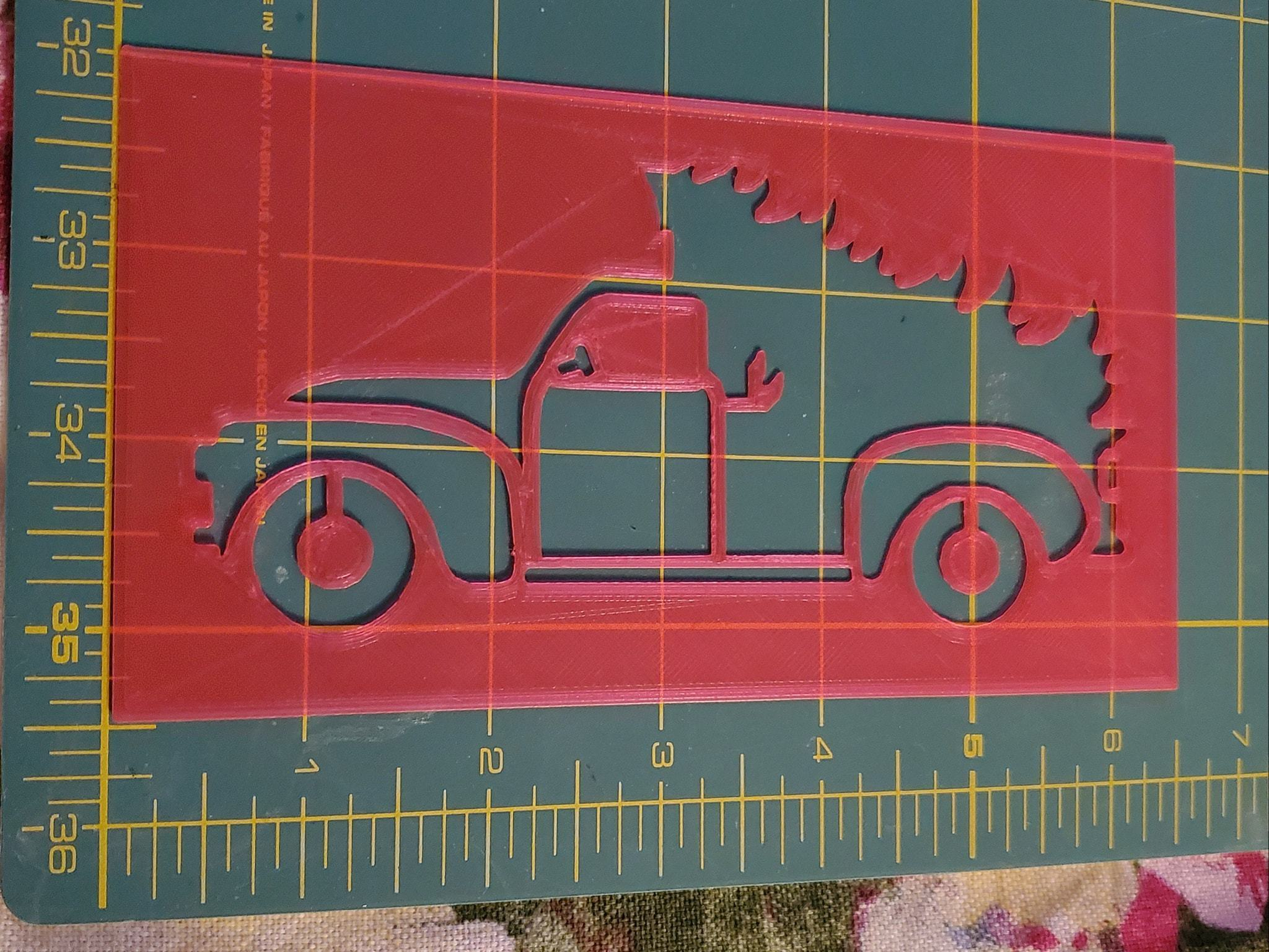 118980307_3382747678617100_1606294910966976129_o.jpg Download STL file Christmas Farm Truck (from the side) Stencil 6 inch wide, 0.6 mm thick • 3D printer object, HostagePotatoChips