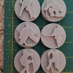 Hockey Players.jpg Download STL file Hockey Player Stamps for Clay or Play-Doh or Cookie Imprints • 3D printing template, HostagePotatoChips