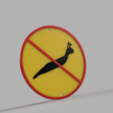 Download STL file Slug warning sign and prohibition sign. • Object to 3D print, PrintsAndNeedles