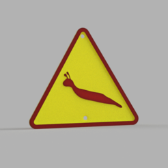 Download STL file Slug warning sign and prohibition sign. • Object to 3D print, PrintsAndNeedles