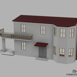 Puppenhaus_1zu14_Modell-1-v53_vorne-rechts.jpg Télécharger fichier STL Puppenhaus / maison de poupée 1:14 • Objet pour imprimante 3D, RH-creations
