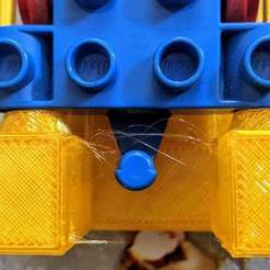 PXL_20201107_122527866.jpg Download free STL file Duplo compatibile track end (fixed space) • Template to 3D print, Pitel