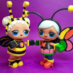 20200401_121100.jpg Download STL file Custom 3D Printed LOL Doll Costumes Bee and Butterfly • Design to 3D print, RDFTW