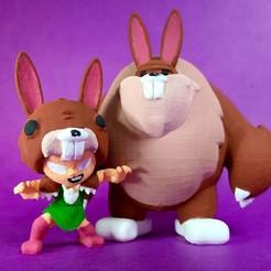 nita-crop-01.jpg Download STL file Brawl Stars Nita Costume : Cute Bunny ! • 3D printer model, RDFTW