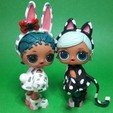 Download 3D model Custom 3D Printed LOL Doll Costumes Cat and Rabbit, RDFTW