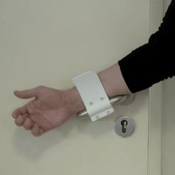 Descargar archivos 3D gratis Abridor de puerta impreso para ayudar a combatir la propagación del virus de la Coronación, StopCOVID19-3D
