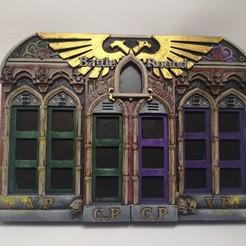 Download 3D printing models Battle Round Tracker Gothic, RedPhoenix