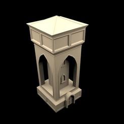 WaterTower0.jpg Télécharger fichier STL Tour d'eau • Modèle pour impression 3D, RedPhoenix