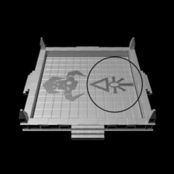 Download 3D printer model Gothic Dice Tray Insert Half #2, RedPhoenix