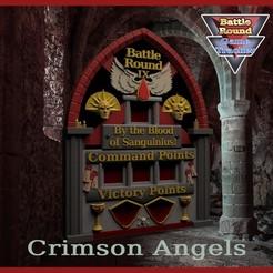 BAGT0.jpg Download STL file BATTLE ROUND TRACKER, NEW! 40K, 9TH EDITION, WARHAMMER 40000 Blood Angels style • 3D printing model, BattleRound