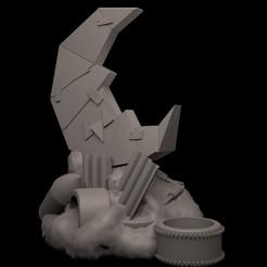 BMI1.jpg Download STL file The Bad Moon Icon • 3D print template, RedPhoenix