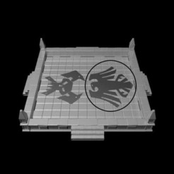Download 3D printing models Gothic Dice Tray Insert Half #8, RedPhoenix