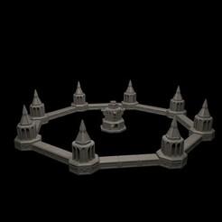 GF05.jpg Download STL file Fountain Gothic Battle Round • 3D printing model, RedPhoenix