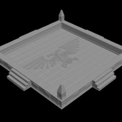 Download 3D printer templates Imperial Eagle Dice Tray (Single Design), RedPhoenix
