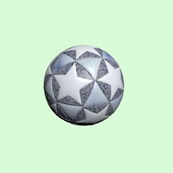 Ball.jpg Download STL file UEFA style Football Container • 3D printer object, RedPhoenix