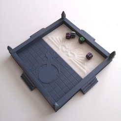 Download STL file Gothic Dice Tray • Object to 3D print, RedPhoenix