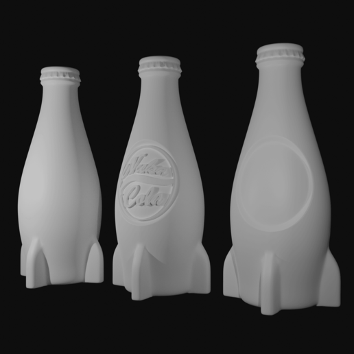 nuka product render.png Download STL file Fallout 4 Nuka Cola • 3D printing object, CyrylXI