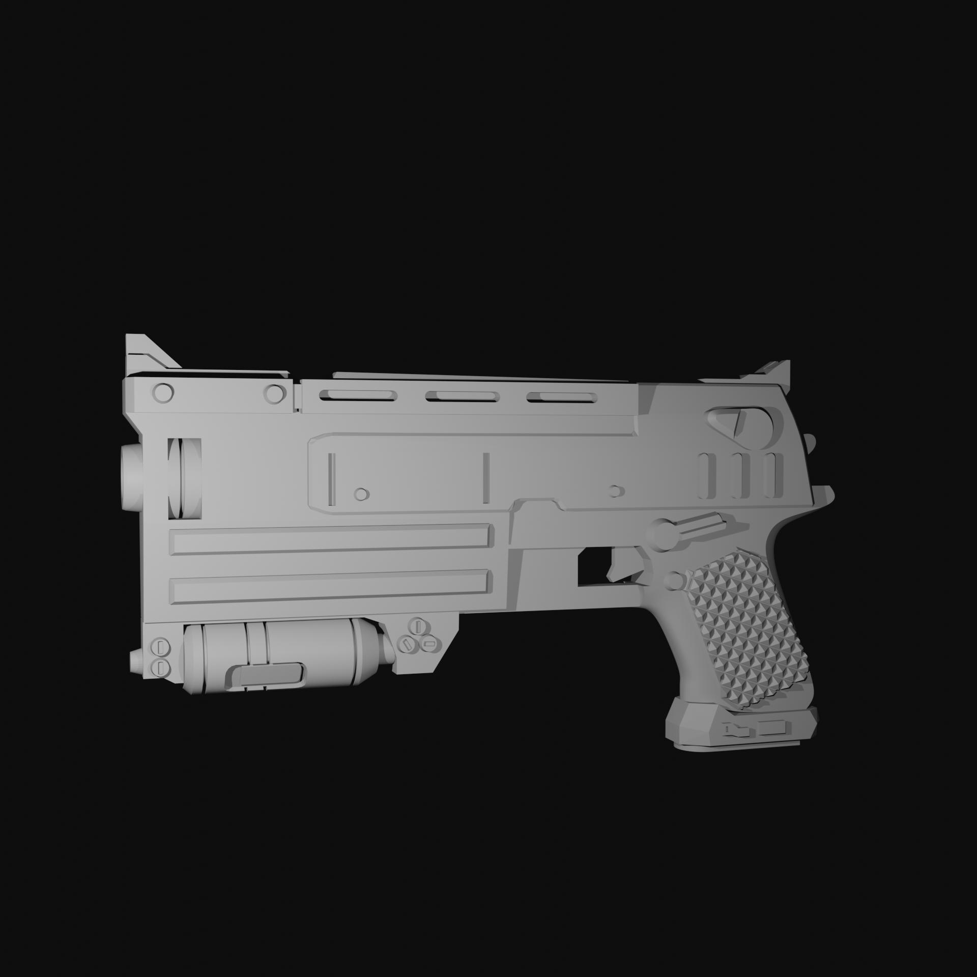 product render.png Télécharger fichier STL Pistolet 10mm Fallout 3 • Plan pour imprimante 3D, CyrylXI