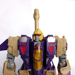 blitzwing head.jpg Download STL file Head replacement for Generations Blitzwing • 3D printable object, CyrylXI