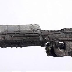 halo 4 ar.jpg Download STL file Halo Assault Rifle figure accesory • 3D printer design, CyrylXI