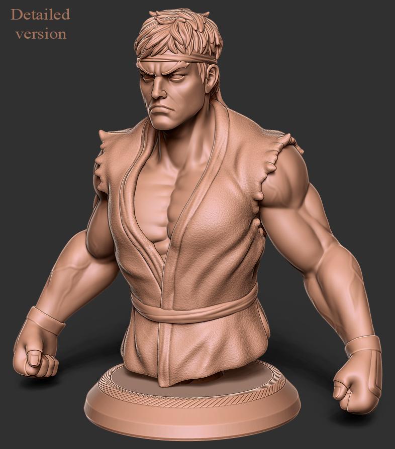 Download 3d Model Ryu Street Fighter Fan Art Cults