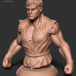 front_detailed.jpg Download OBJ file Ryu street fighter fan art • 3D printing template, Sharry