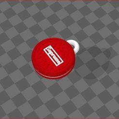 keychain.JPG Download STL file Supreme Oreo keychain • 3D print template, Omar_san