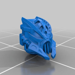 Download free STL files Bionicle style heads for Chaos Space Warriors, Tux_M