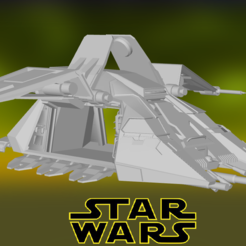 0.PNG Download STL file Star Wars , Imperial Dropship • 3D print object, Centr3D