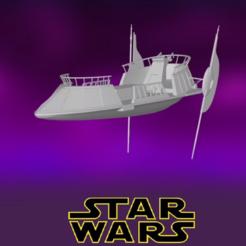 0.PNG Download STL file Star Wars , Skiff • 3D printing model, Centr3D