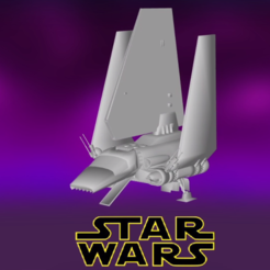 0.PNG Download free STL file Star Wars , Imperial Shuttle • Object to 3D print, Centr3D