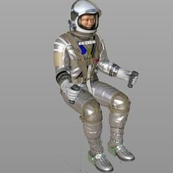 Descargar archivo 3D El astronauta de mercurio se encuentra, MaxGrueter