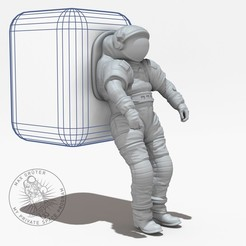 Bildname0034.jpg Download free STL file NASA  / MARK III / MARS EXPOLRATION SUIT • Model to 3D print, MaxGrueter