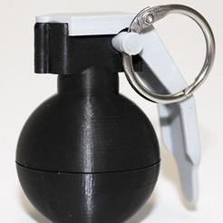 Descargar STL gratis Llavero de una mini granada, TheGiven