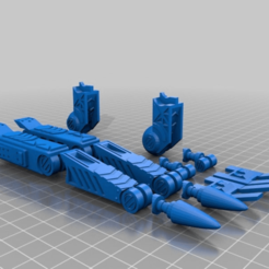 Download free 3D printer designs Mech Leg, El_Mutanto