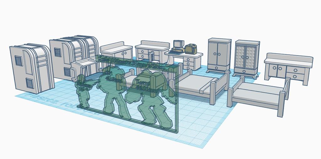 NewCanvas1.png Télécharger fichier STL gratuit Ensemble de meubles inspiré par Wolfenstein pour le jeu de guerre • Modèle pour imprimante 3D, El_Mutanto