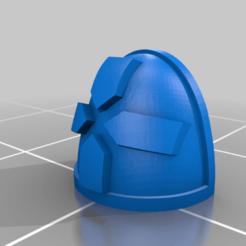 Download free 3D printer templates Cardinal Achrivists Pauldron, El_Mutanto