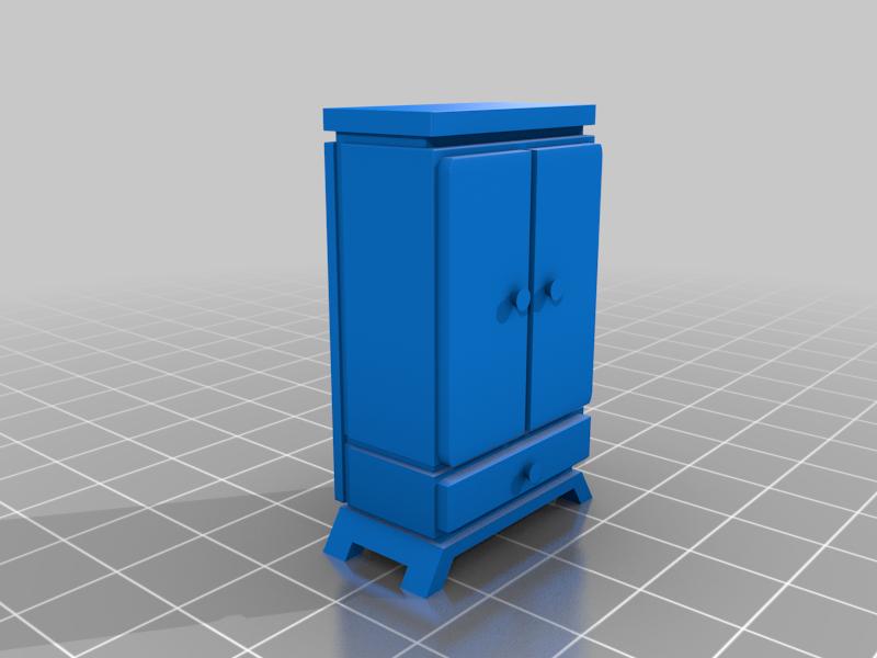 Luis_Furniture_closet_w.png Télécharger fichier STL gratuit Ensemble de meubles inspiré par Wolfenstein pour le jeu de guerre • Modèle pour imprimante 3D, El_Mutanto