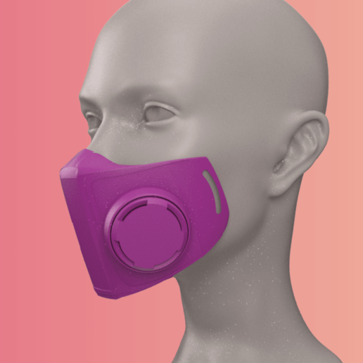 Télécharger objet 3D gratuit Masques N95 contre le coronavirus COVID19 #HackThePandemic, Copper3D