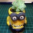 Download free STL file Minion Flower Pot • 3D printing template, spitdesigning