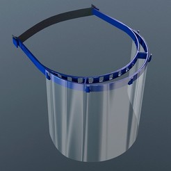 Descargar modelo 3D gratis strong and compact Face-Shield Covid 19/ NAPA DYNAMICS, jeanforthekill