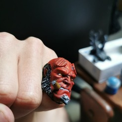 95158394_234514487962878_558197993015083008_n.jpg Download free 3MF file Hellboy ring • 3D printable model, gege_1_1