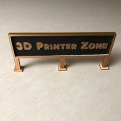 IMG_2838.jpg Download STL file 3d Printer Sign • 3D printer object, JWizard