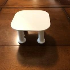 IMG_2891.jpg Télécharger fichier STL Mini table ou plateau à hauteur réglable • Plan à imprimer en 3D, JWizard