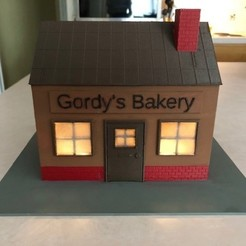 IMG_2469.jpg Download OBJ file Gordy's Bakery - JWizard Christmas Stores/Cottages Collection • Model to 3D print, JWizard
