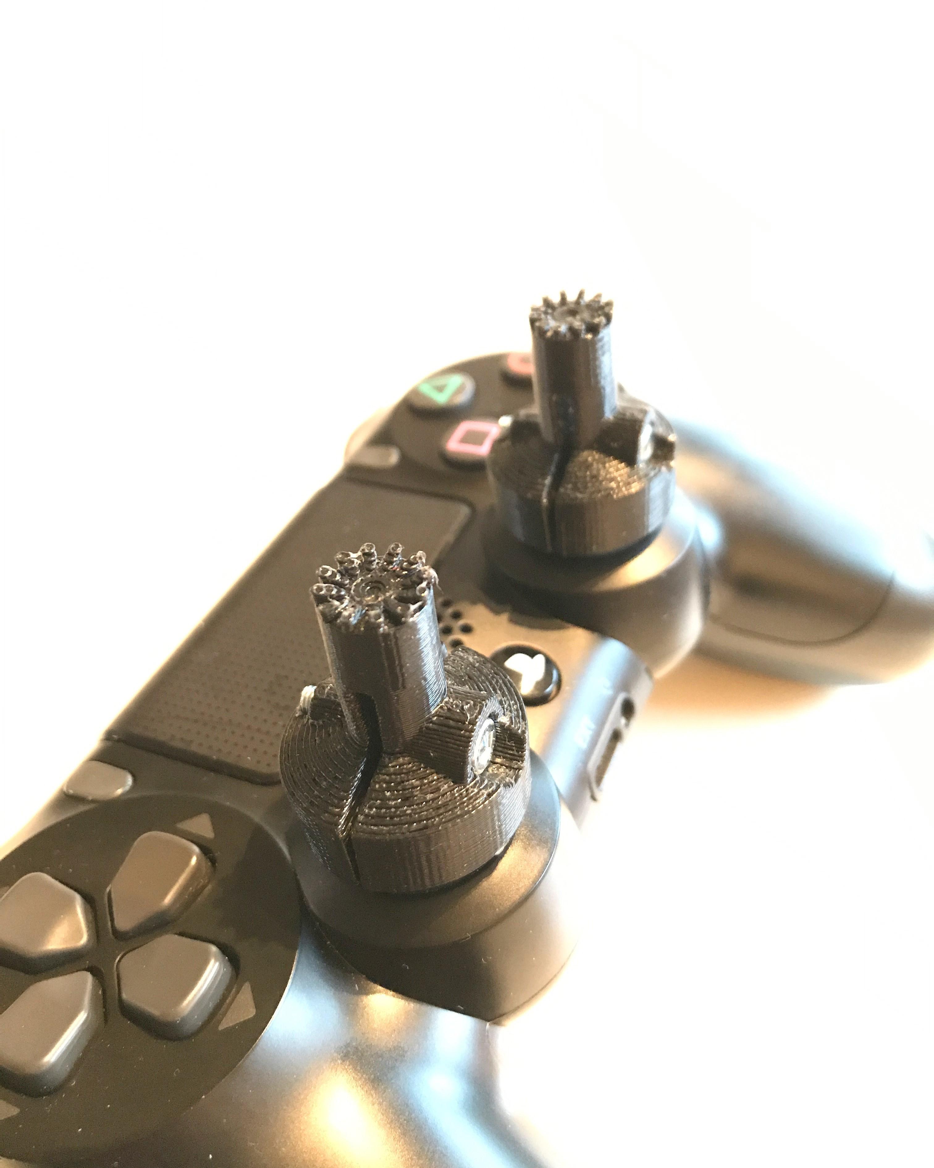 ps4_gimbal_extender.jpg Télécharger fichier STL gratuit Extensions de la cardan des contrôleurs de jeu PS4 • Design à imprimer en 3D, sprintFPV