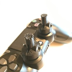 Download free 3D printing designs PS4 game controller gimbal extensions, sprintFPV